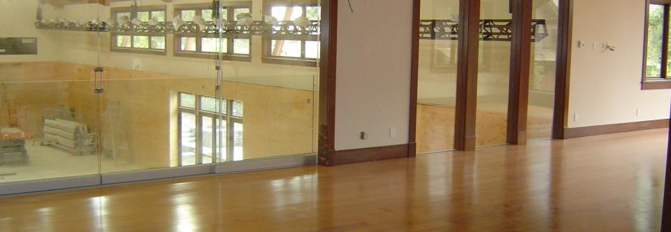 Reclaimed Fir Hardwood Floors with Satin Sheen