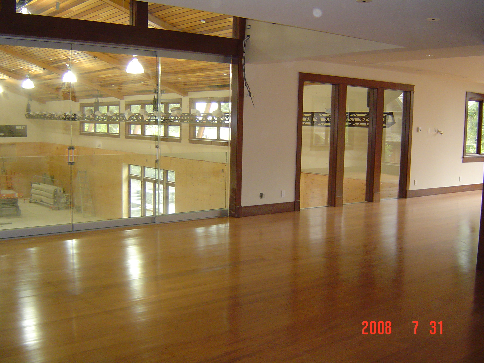 Reclaimed Fir Hardwood Floors with Satin Sheen